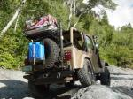 C4x4 YJ/TJ rear bumper/tire carrier combo