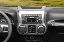 Rugged Ridge Center Radio Console, Charcoal, 11-13 Jeep Wrangler