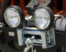 Rugged Ridge Roller Fairlead with Offroad Light Mounts