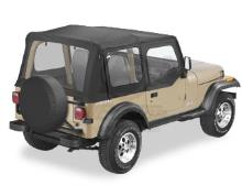 Bestop Sailcloth Replace-a-Top, Clear Windows, Upper Door Skins, Jeep 88-95 Wrangler YJ