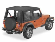 Bestop Sailcloth Replace-a-Top, Clear Windows, Upper Door Skins, Jeep 97-02 Wrangler TJ
