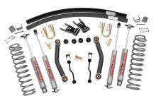 "Rough Country Jeep XJ Cherokee 4.5"" Suspension Lift Kit w/Add-A-Leafs"