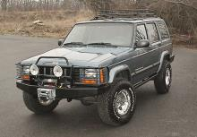 C4x4 Jeep Cherokee XJ Tapered Front winch bumper