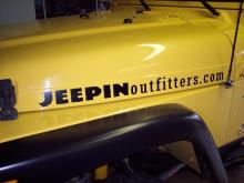"JEEPINoutfitters.com logo decal - 32"", black"