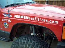 "JEEPINoutfitters.com logo decal - 24"", white"