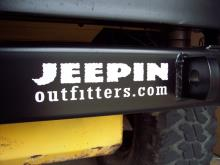 "JEEPINoutfitters.com logo decal - 8"", white"