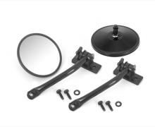 Rugged Ridge Mirror Relocation Kit, Pair, Black, Includes Mirror, Jeep Wrangler (TJ) 97-06, (JK) 07-11, Does Both Sides
