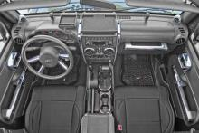 Rugged Ridge Interior Trim Accent Kit, Chrome, Jeep Wrangler (JK) 07-10 4-Door With Manual Transmission
