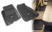 Rugged Ridge All Terrain Floor Liner Kit, Four Piece, Black , Jeep Grand Cherokee (ZJ) 93-98, Includes first and second row liners