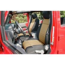 Rugged Ridge Seat Cover Front Pair, Neoprene, Black with Tan Inserts, Jeep Wrangler (JK) 2011